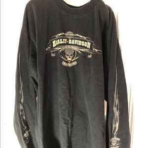 Harley Davidson love to ride ride to live -sleeved